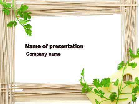 Food & Beverage: Noodle Frame PowerPoint Template #07579