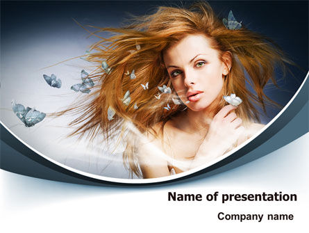 Beauty Design PowerPoint Template, 07580, Careers/Industry — PoweredTemplate.com