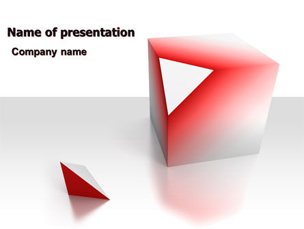 Cube Segment PowerPoint Template, 07582, Consulting — PoweredTemplate.com