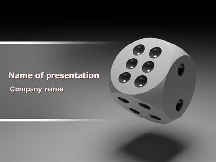 Business Concepts: Die with Six PowerPoint Template #07583