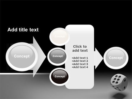 Die with Six PowerPoint Template Slide 17