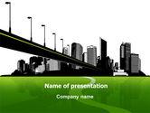 Construction: City Suburbs PowerPoint Template #07584