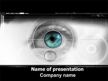 Technology and Science: Selection of Contact Lenses PowerPoint Template #07585