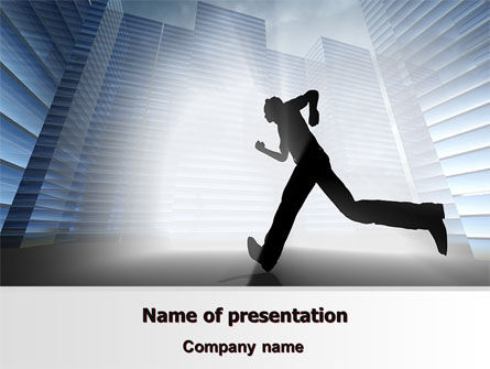 Business: City Runner PowerPoint Template #07586