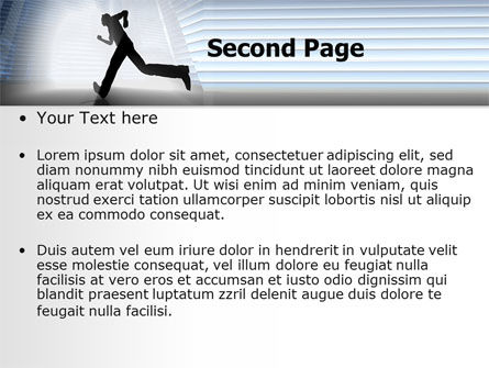 City Runner PowerPoint Template Slide 2