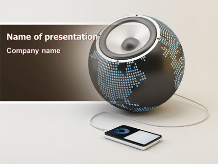 World Loud Speaker PowerPoint Template