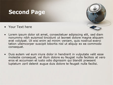 World Loud Speaker PowerPoint Template Slide 2