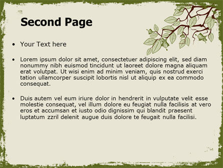 Spring Tree Stick PowerPoint Template, Slide 2, 07591, Nature & Environment — PoweredTemplate.com