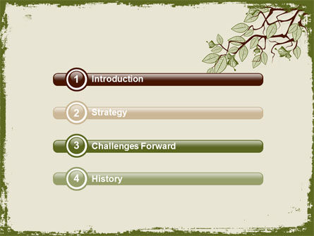 Spring Tree Stick PowerPoint Template, Slide 3, 07591, Nature & Environment — PoweredTemplate.com