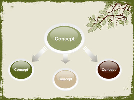 Spring Tree Stick PowerPoint Template, Slide 4, 07591, Nature & Environment — PoweredTemplate.com