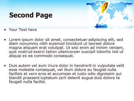 Goldfish Jumping Up PowerPoint Template, Slide 2, 07592, Business Concepts — PoweredTemplate.com