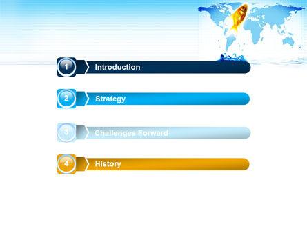 Goldfish Jumping Up PowerPoint Template, Slide 3, 07592, Business Concepts — PoweredTemplate.com