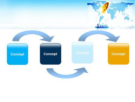 Goldfish Jumping Up PowerPoint Template, Slide 4, 07592, Business Concepts — PoweredTemplate.com