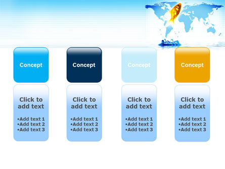 Goldfish Jumping Up PowerPoint Template Slide 5
