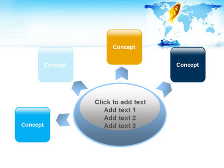 Goldfish Jumping Up PowerPoint Template Slide 7