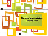 Abstract/Textures: Orange Frames PowerPoint Template #07593