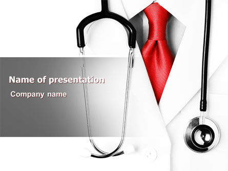 Medical: Plantilla de PowerPoint - doctor riguroso #07594