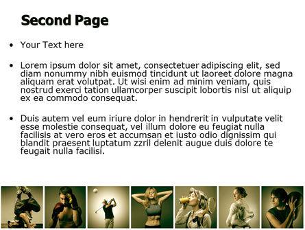 Sport Activities PowerPoint Template, Slide 2, 07597, People — PoweredTemplate.com