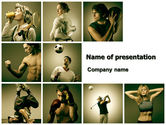 People: Sport Activities PowerPoint Template #07597