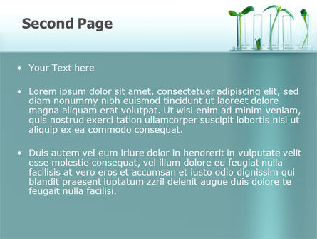 Green Sprigs PowerPoint Template, Slide 2, 07598, Technology and Science — PoweredTemplate.com