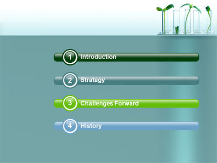 Green Sprigs PowerPoint Template, Slide 3, 07598, Technology and Science — PoweredTemplate.com