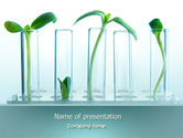 Technology and Science: Green Sprigs PowerPoint Template #07598