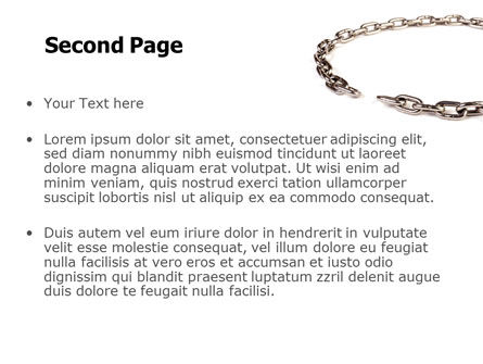 Torn Chain PowerPoint Template Slide 2