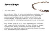 Torn Chain PowerPoint Template#2