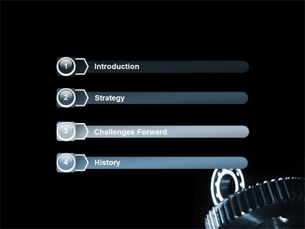 Bearing In Dark Blue Colors PowerPoint Template, Slide 3, 07600, Utilities/Industrial — PoweredTemplate.com