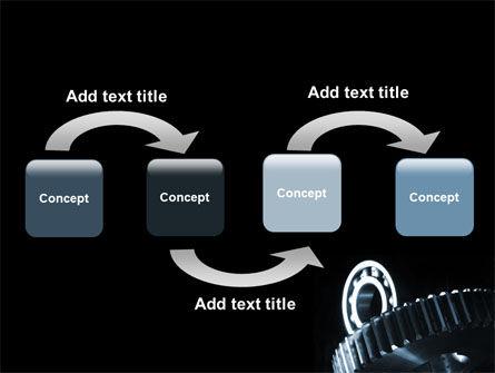 Bearing In Dark Blue Colors PowerPoint Template, Slide 4, 07600, Utilities/Industrial — PoweredTemplate.com
