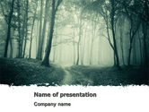 Nature & Environment: 霧の中の森 - PowerPointテンプレート #07601