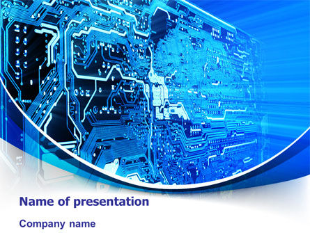 Technology and Science: Circuit PowerPoint Template #07602