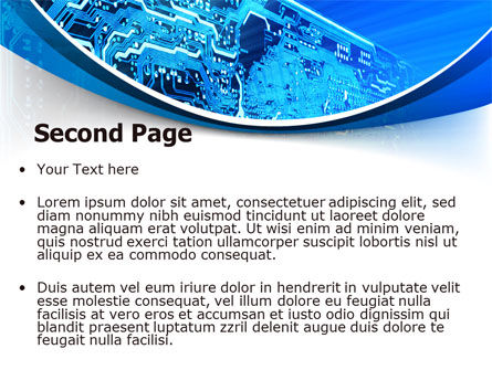 Circuit PowerPoint Template, Slide 2, 07602, Technology and Science — PoweredTemplate.com