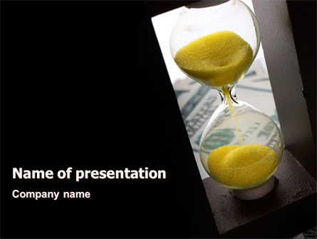 Financial/Accounting: Money Time Glass PowerPoint Template #07603