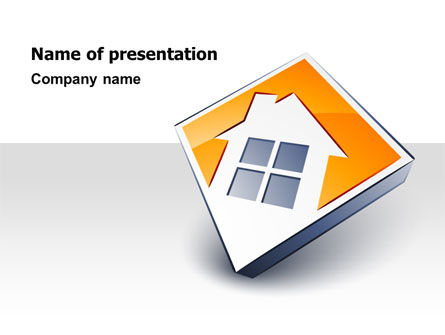 Careers/Industry: Cottage Icon PowerPoint Template #07604