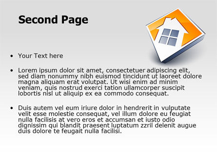 Cottage Icon PowerPoint Template Slide 2