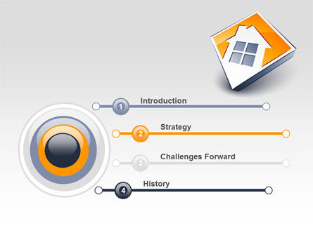 Cottage Icon PowerPoint Template Slide 3