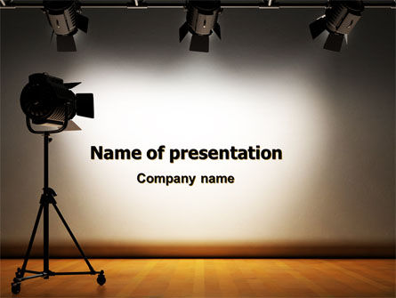 Careers/Industry: Photo Studio PowerPoint Template #07606