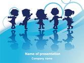 Education & Training: Little Children PowerPoint Template #07607