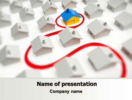 Real Estate: Keuze Huis PowerPoint Template #07608