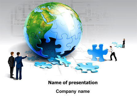 Global: Finalization Of Jigsaw World PowerPoint Template #07611