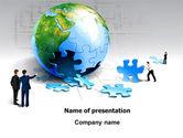 Global: Finalization Of Jigsaw World PowerPoint Template #07611