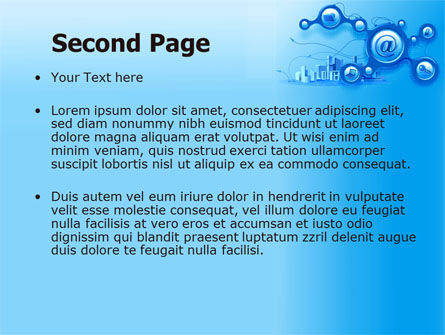 E-Communication PowerPoint Template, Slide 2, 07612, Technology and Science — PoweredTemplate.com
