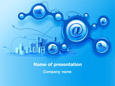 Technology and Science: Plantilla de PowerPoint - comunicación electrónica #07612