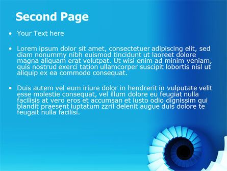 Spiral Stairs PowerPoint Template Slide 2