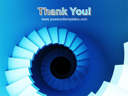 Spiral Stairs PowerPoint Template Slide 20