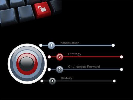 Unlock Key PowerPoint Template, Slide 3, 07615, Computers — PoweredTemplate.com