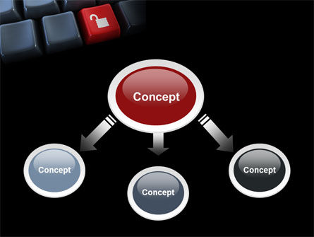 Unlock Key PowerPoint Template, Slide 4, 07615, Computers — PoweredTemplate.com
