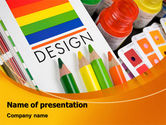 Careers/Industry: Design Tools PowerPoint Template #07617