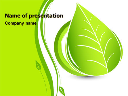 Tender Green Spring Leaf PowerPoint Template, 07618, Nature & Environment — PoweredTemplate.com